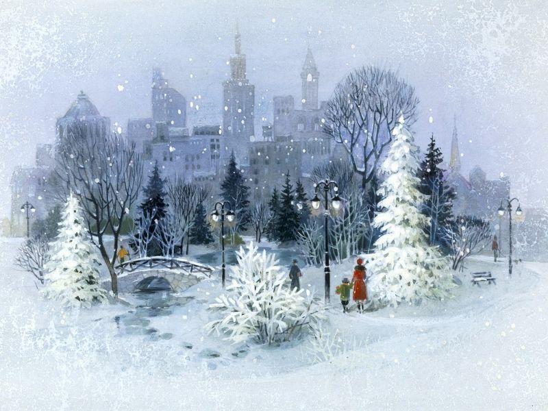 Preview Winter In The City Wallpaper Download Imagenes De Navidad Escena De Navidad Escenas De Navidad