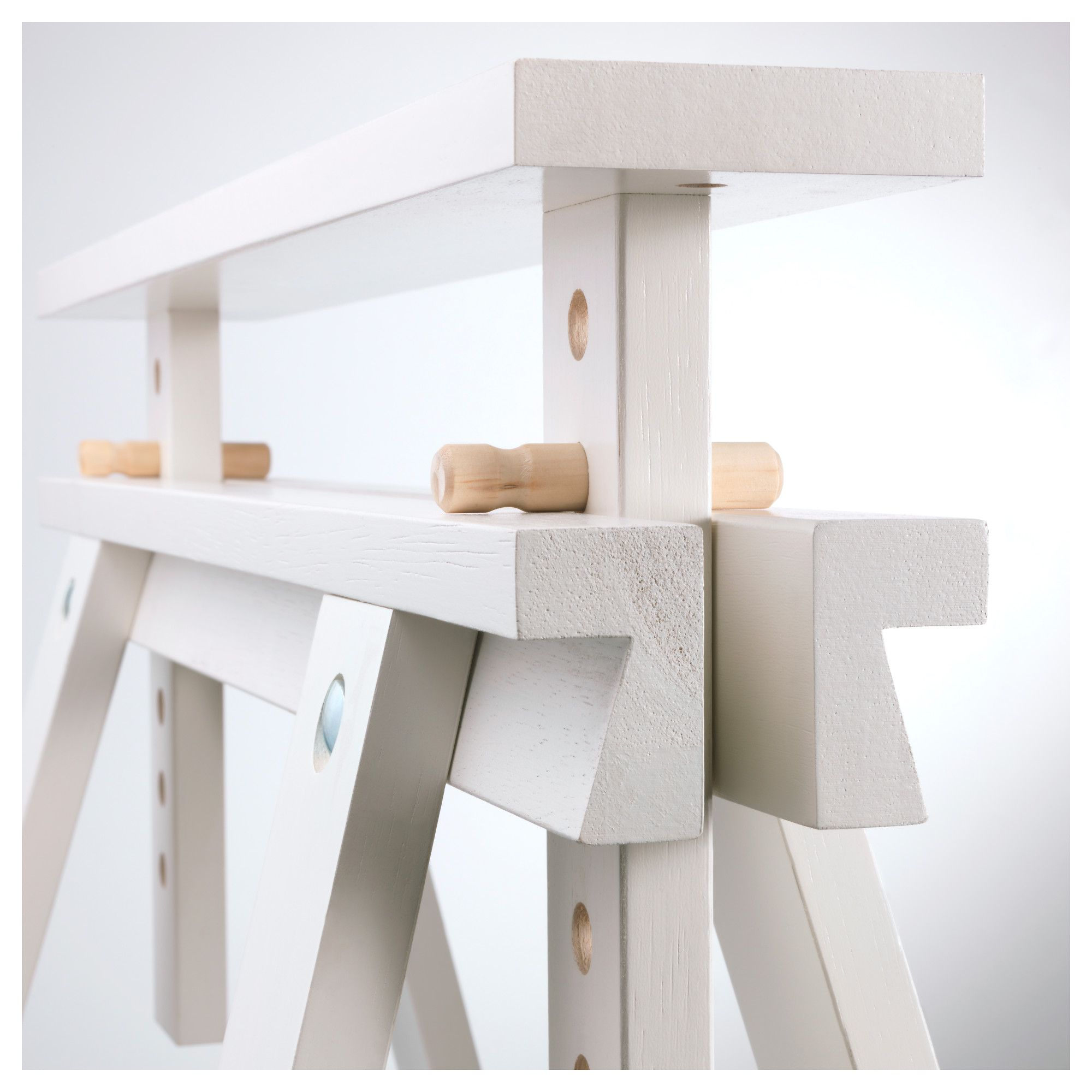 Ikea Finnvard Trestle With Shelf White In 2019 Products