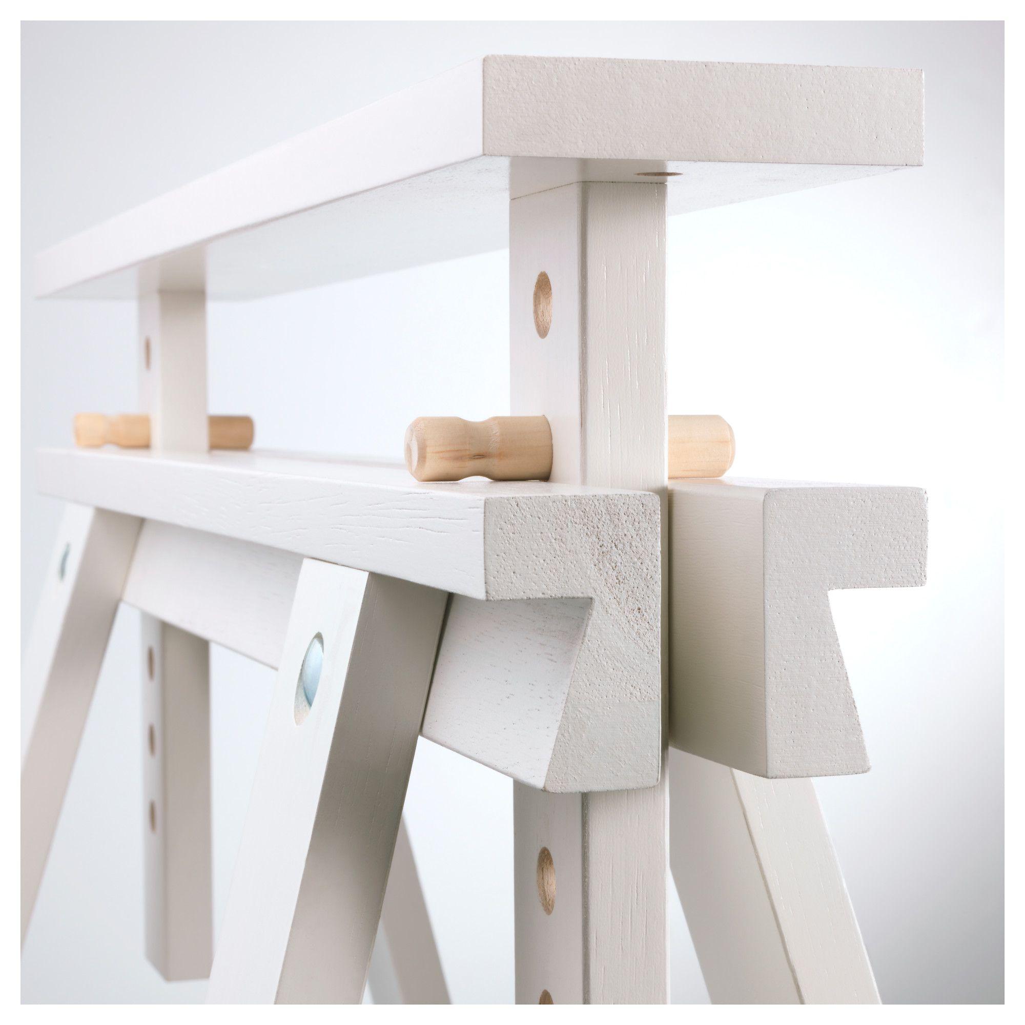 ikea finnvard trestle with shelf white products pinterest. Black Bedroom Furniture Sets. Home Design Ideas