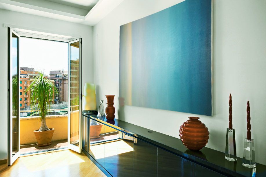 Large Abstract Oil Painting Turquoise Large Wall