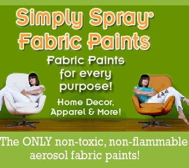 Simply Spray NZ   The ONLY Non Toxic, Non Flammable, Fabric Spray Paint And