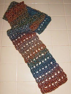Easy Crochet Scarf Using Lion Brand Painted Desert Homespun Shes