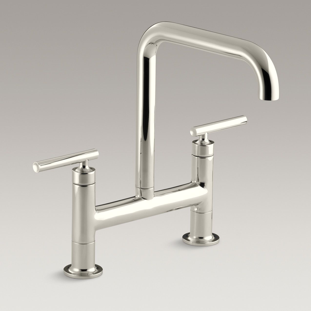 kohler purist kitchen faucet make cabinets the is an elegant addition to any