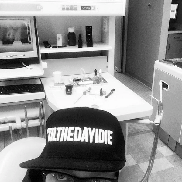 Tobymac doing a selfie at the dentist office