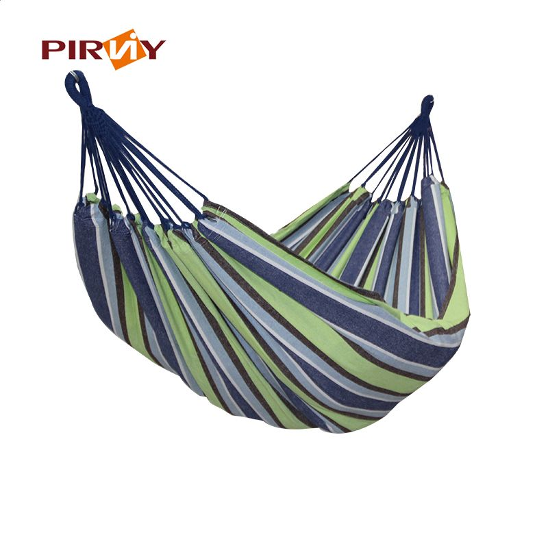 Camping & Hiking Portable Outdoor Hammock 280x 80cm 120 Kg Load-bearing Garden Sports Home Travel Camping Swing Canvas Stripe Hang Bed Hammock