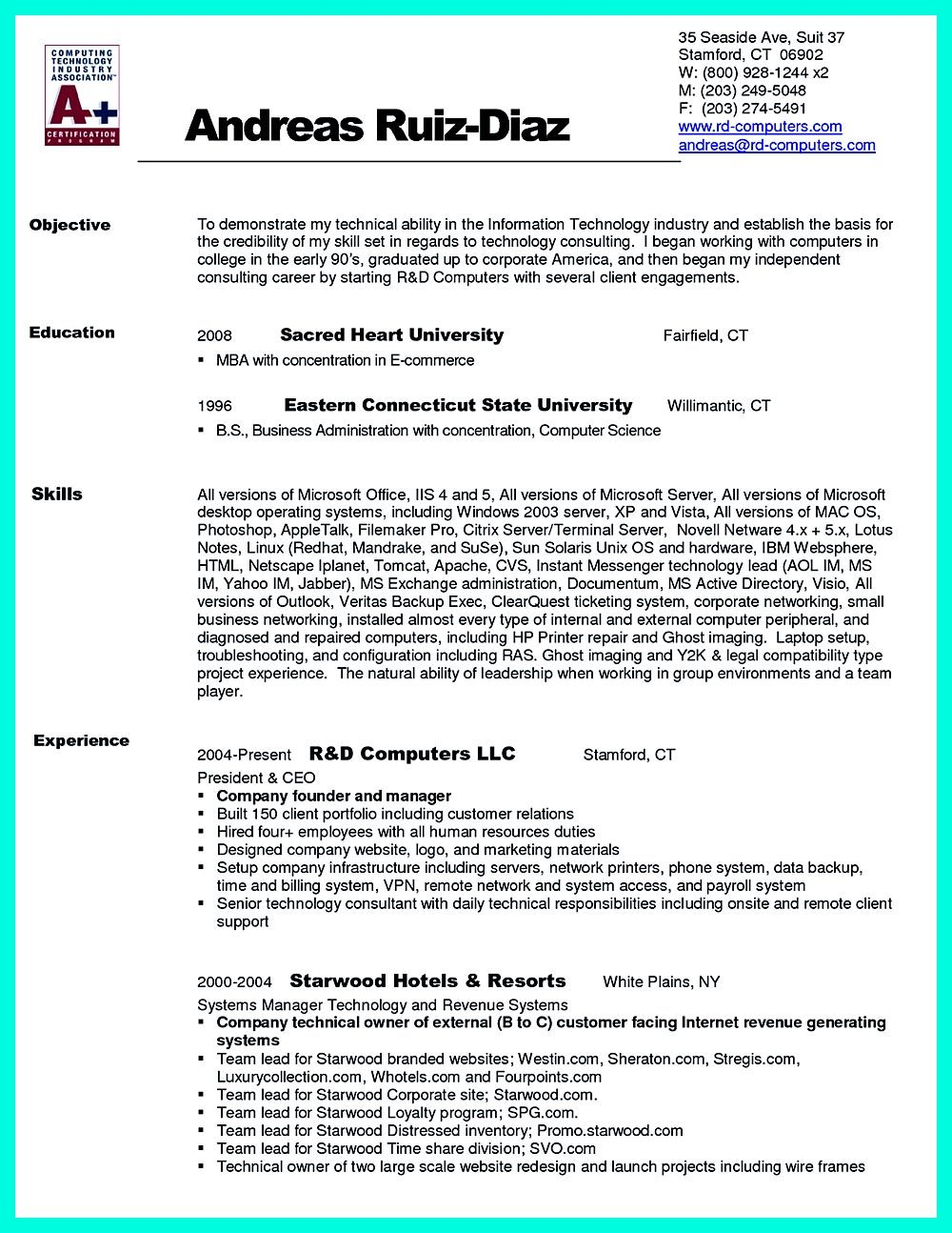 Computer Engineering Resume Includes The Skill In The It Field You Have Experience In The Same Field For Certain Years I Education Resume Resume Sample Resume