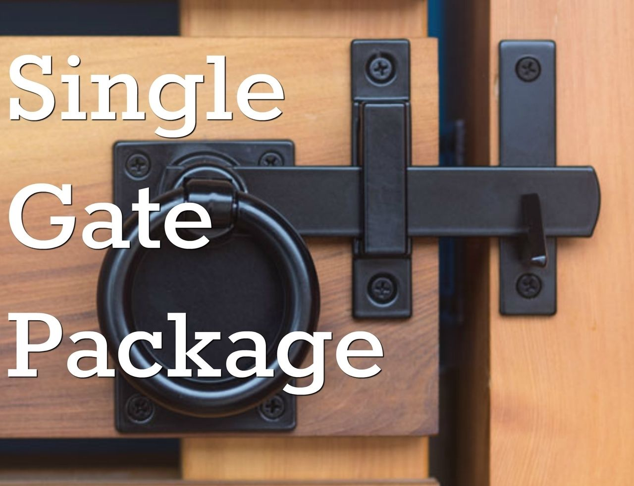 Contemporary Ring Black Gate Latch Package for Single Gates in 2019