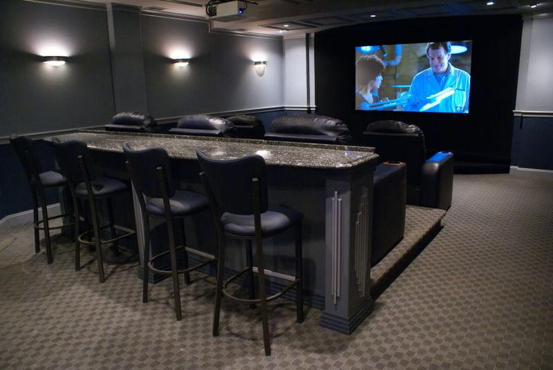 I Need This Row Of Bar Seating Home Theater Pinterest