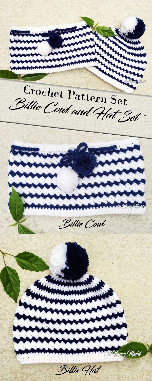 Bille Hat & Cowl Set pattern by Si Nanay Madel | *Crochet Winter ...