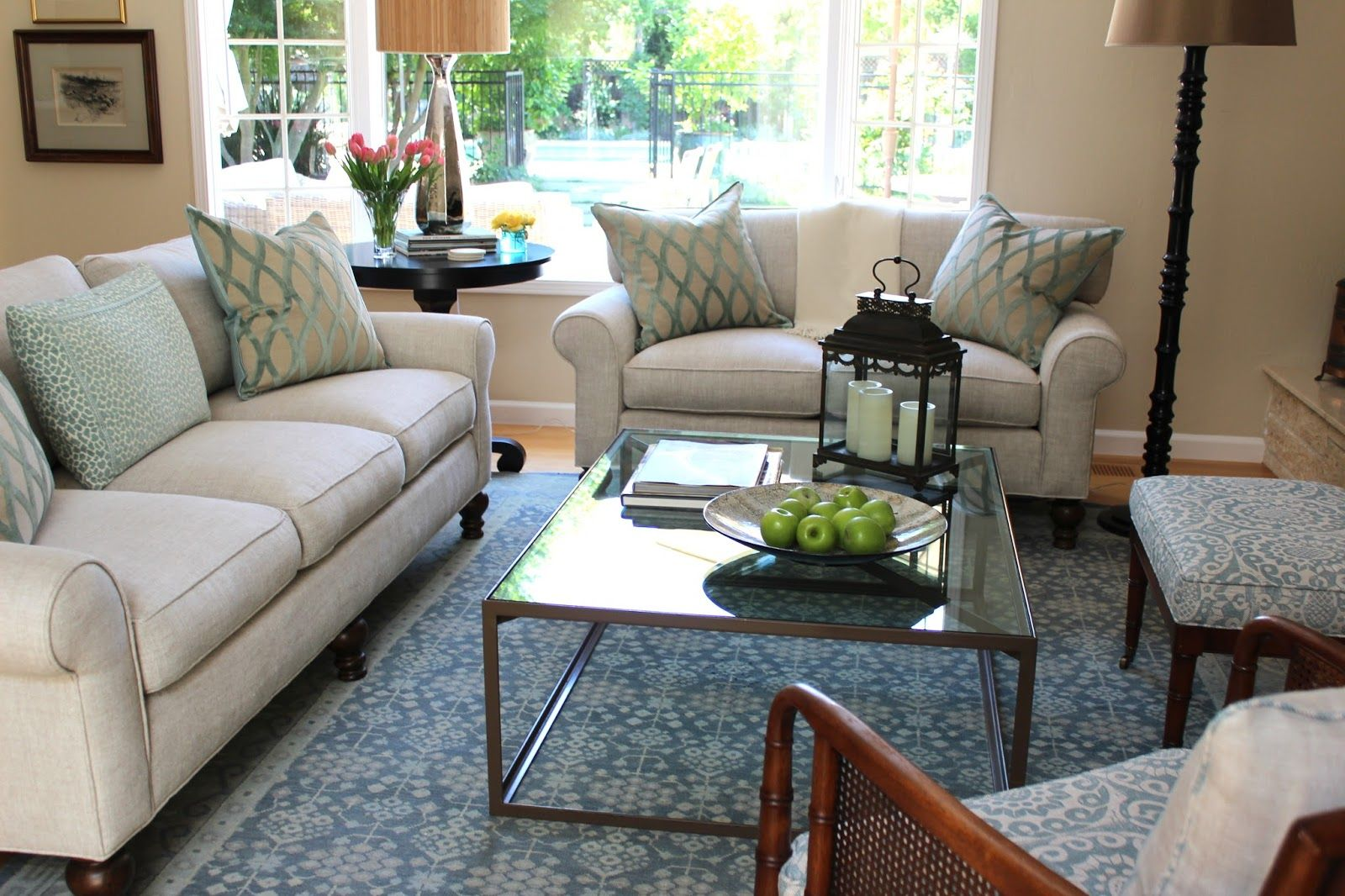 Glass coffee table in living room beforeafter creating a fresh inviting living room  room living