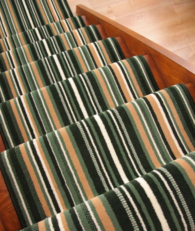 Best Lima Green Stripe Extra Long Runner Rug Wide Narrow Stair 400 x 300