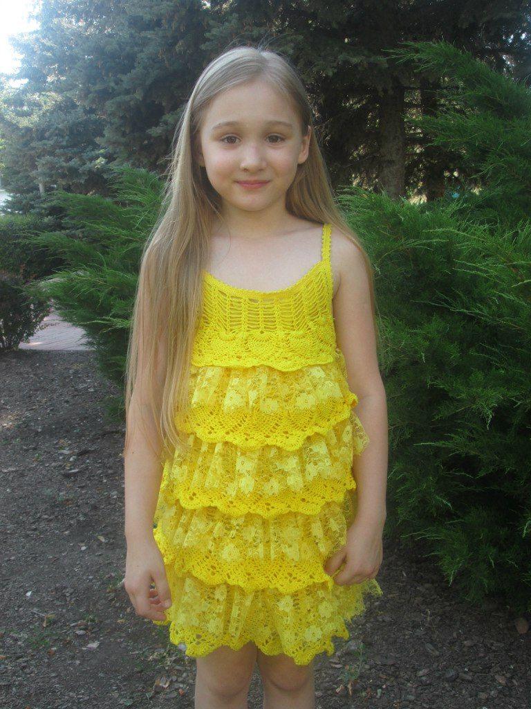 сарафаны для девочек крючком со схемами на русском