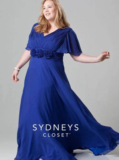 2016 Sydney S Closet Short Sleeves Royal Blue Plus Size Prom Dress Sc4015 Trendy Plus Size Dresses Plus Size Prom Dresses Dresses