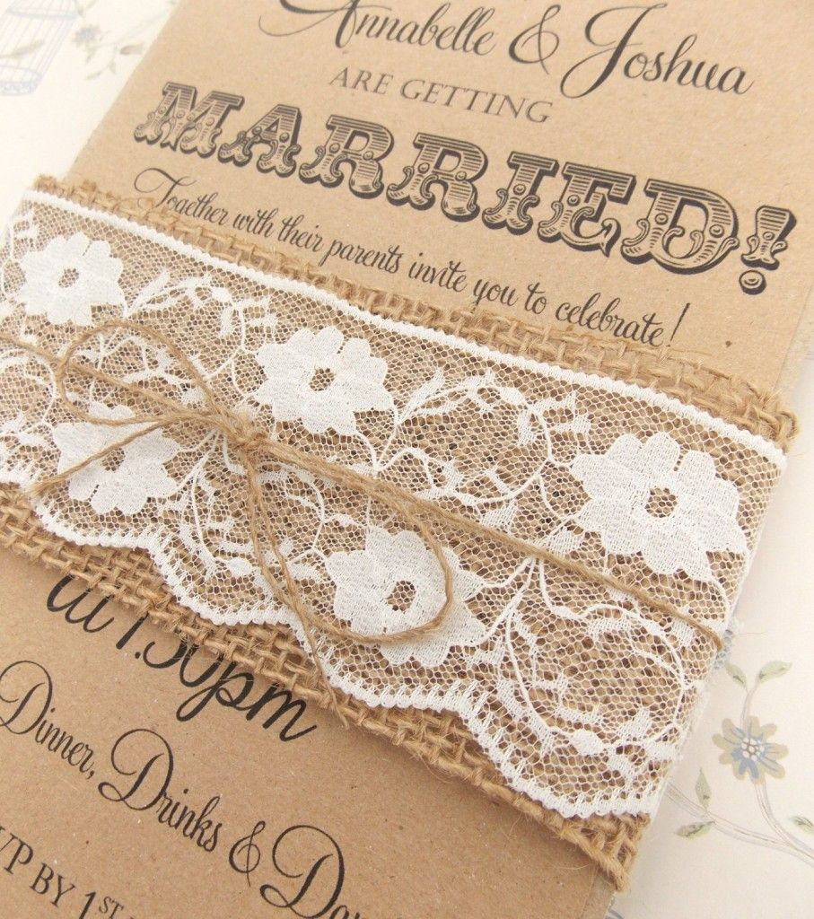 Ribbon world rustic wedding invitations | Wedding | Pinterest ...