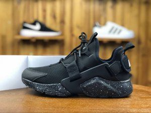 promo code d3dac d0c3c Mens Sneakers Nike Air Huarache City Low Triple Black AH6804 009