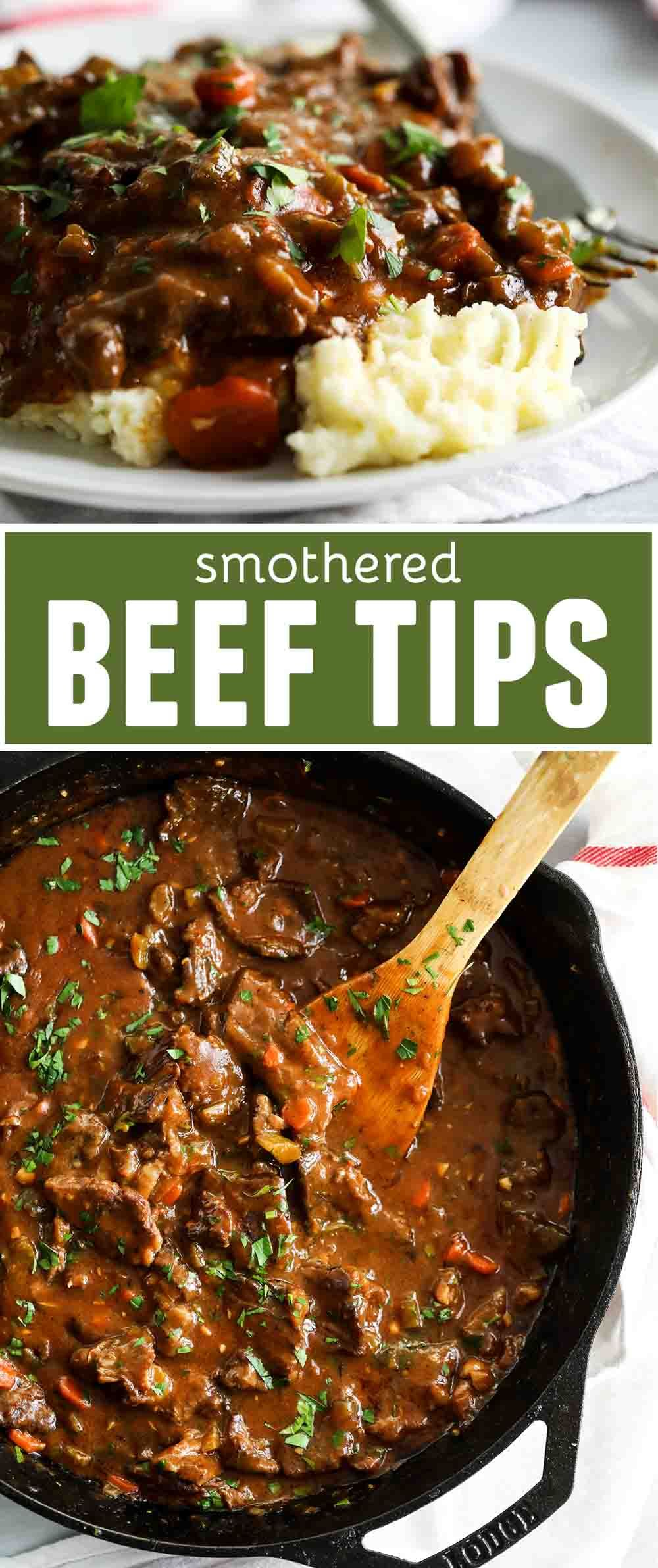 Smothered Beef Tips images