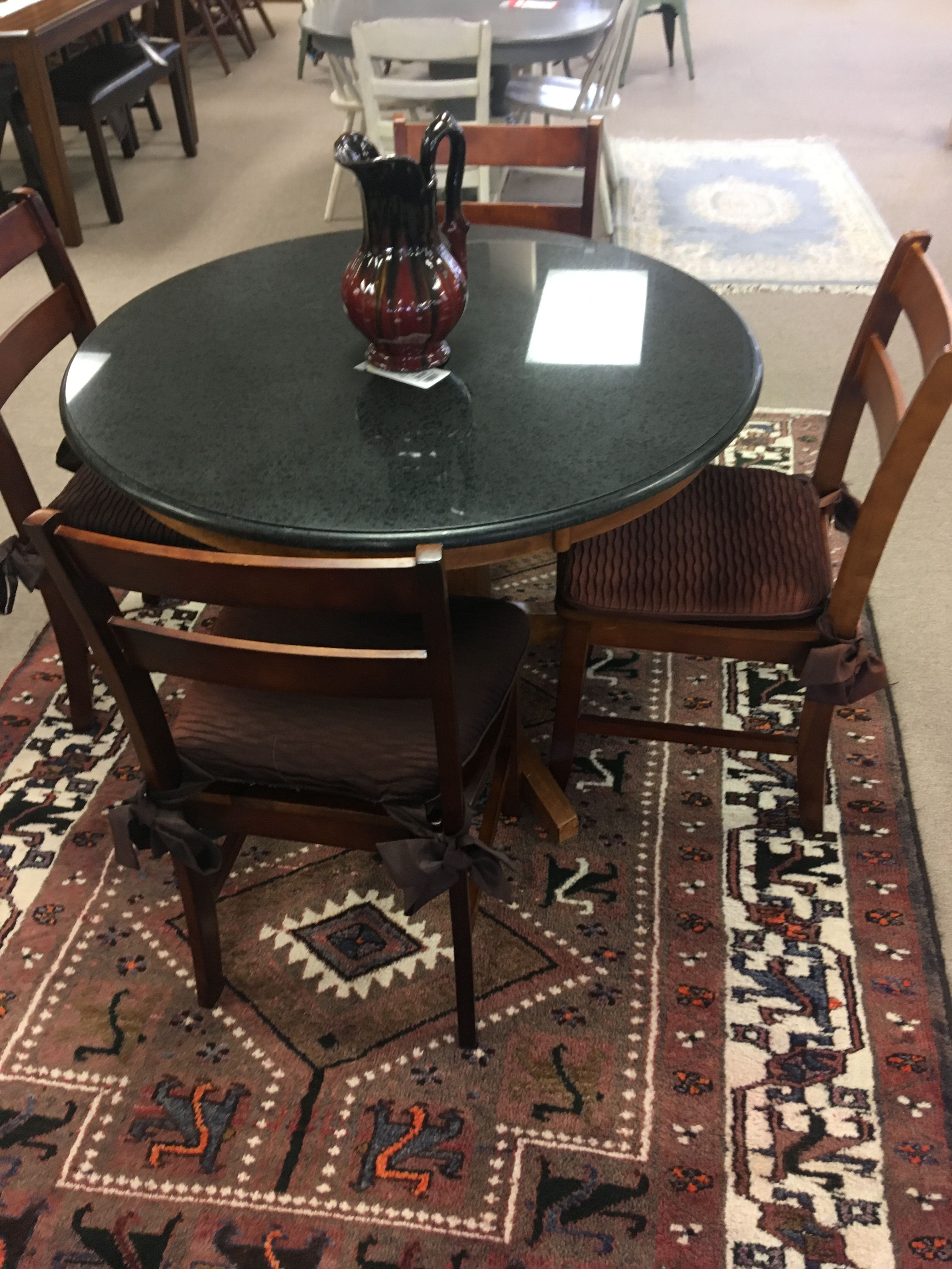 Marble Top Dining Table With Four Chairs Marble Top Dining Table