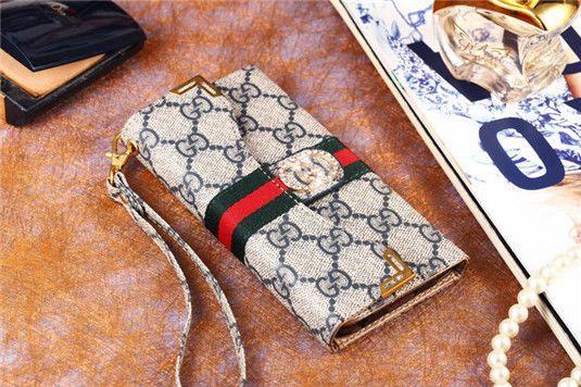 LV Gucci Hülle aus Leder wie Börsetasche für iPhone 6/6 plus - spitzekarte.com