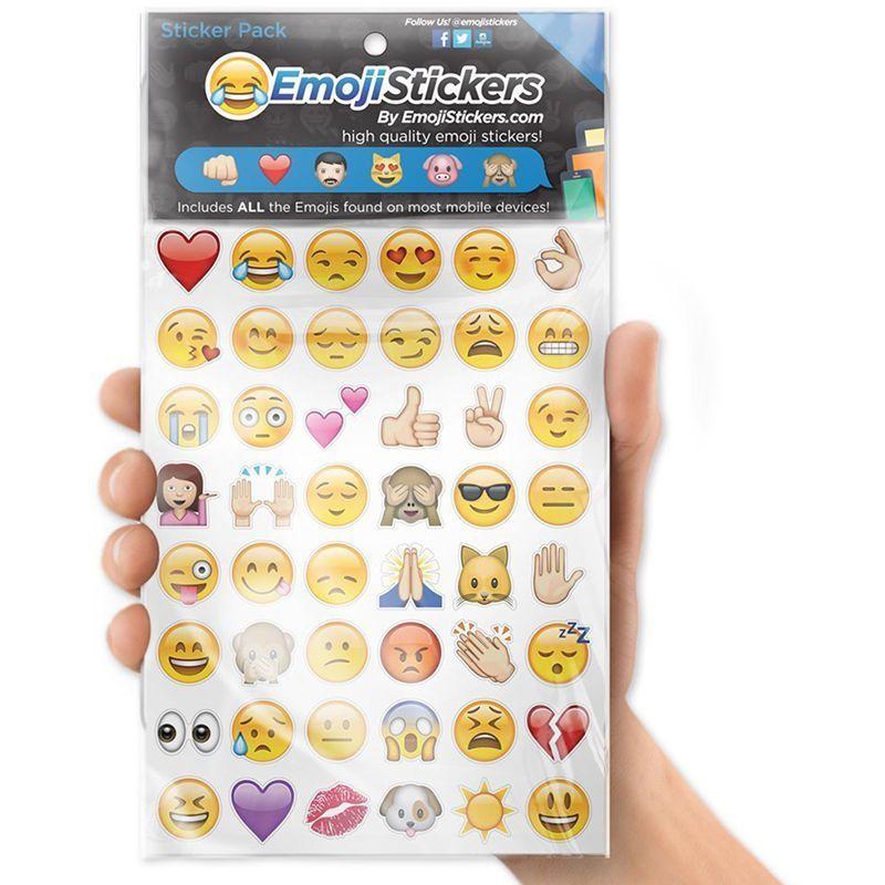 Smile Emoji Sticker Pack 288 popular Die Cut Stickers iPhone Instagram Twitter