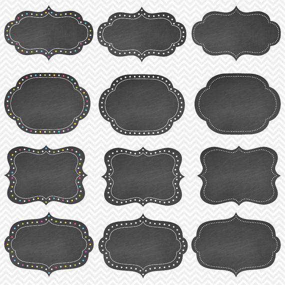 photograph regarding Free Printable Chalkboard Labels titled Chalkboard clipart, chalkboard labels, chalkboard