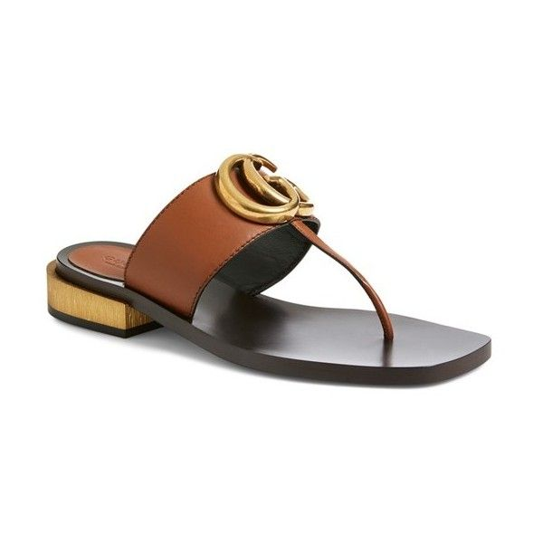 bfbdd45f36c Women s Gucci  Marmont  Sandal ( 660) ❤ liked on Polyvore featuring shoes