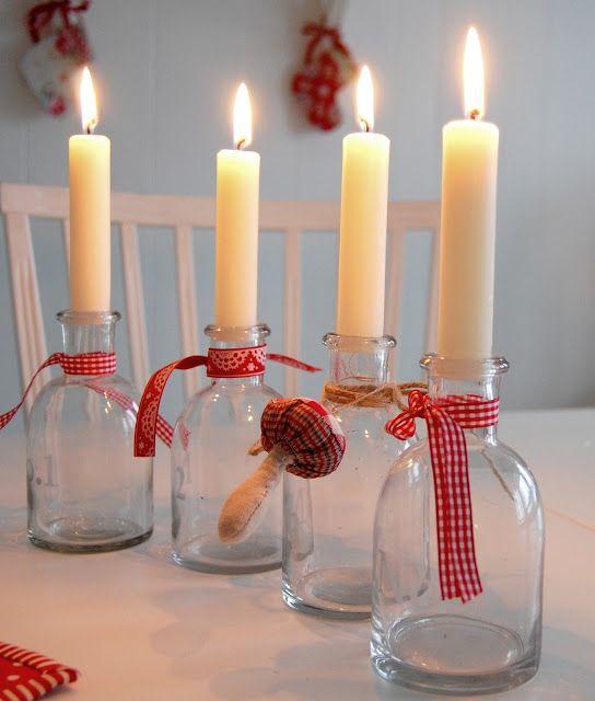 pretty and simple candle idea!
