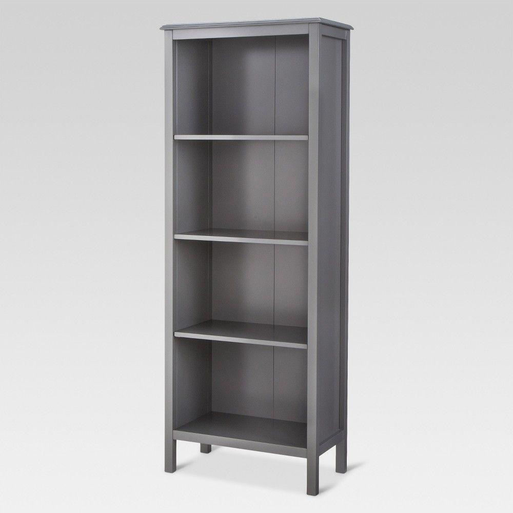 60 Windham 4 Shelf Bookcase Gray Threshold In 2020 4 Shelf