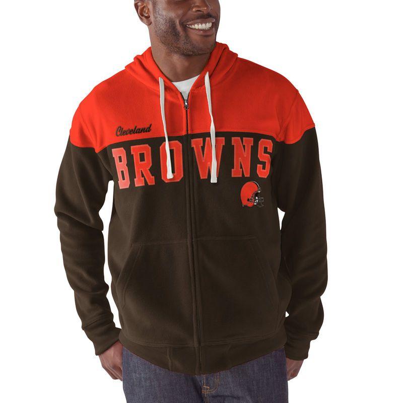 Cleveland Browns G-III Sports by Carl Banks First Down Polar Fleece Full-Zip bbc25c0cf