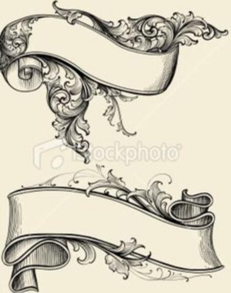 Banner Tattoo Design Flash | Desenhar | Pinterest | Handschschrift ...