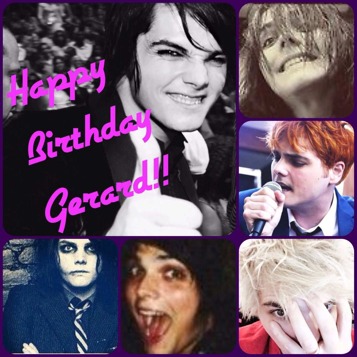 Today, the 9th of April, is my heroes birthday. Love you lots Gerard Way! Thanks for everything!!xxxxx