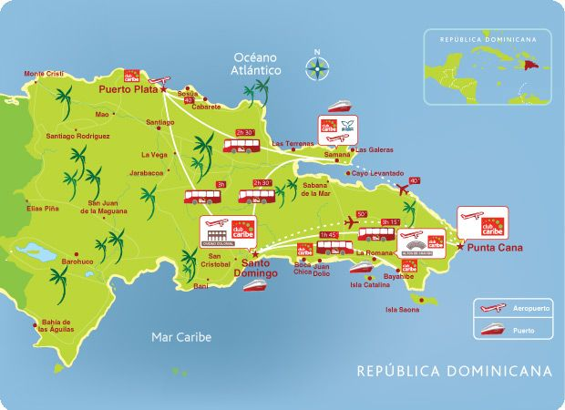 Mapa De La Republica Dominicana San Francisco Bahamas Travel Illustrated Map Birthday Planning