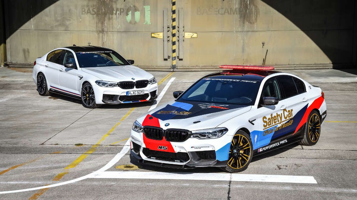 The new BMW M5 MotoGP Safety Car. Автомобили ягуар