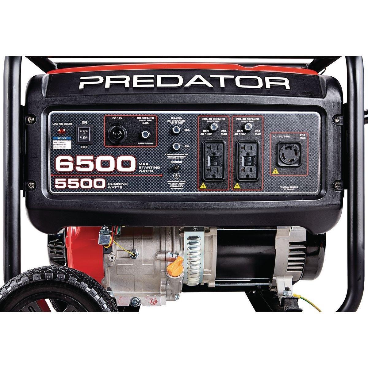 6500 watt max starting gas powered generator carb in