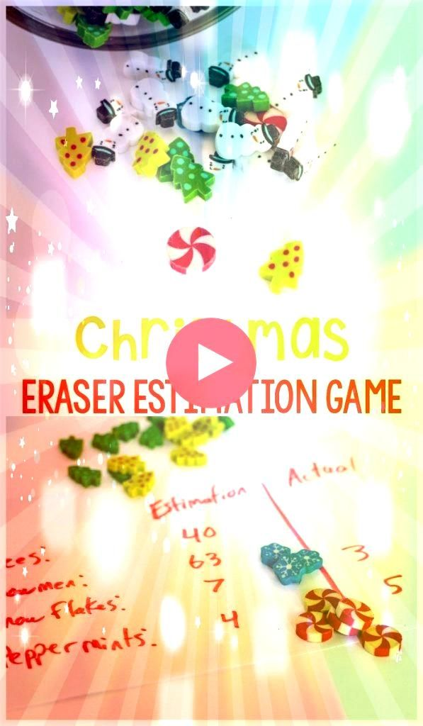Mini Eraser Estimation Game This noprep Christmas math game is always a hit in our home This Christmas mini eraser estimation game is a great way to work on estimation wi...