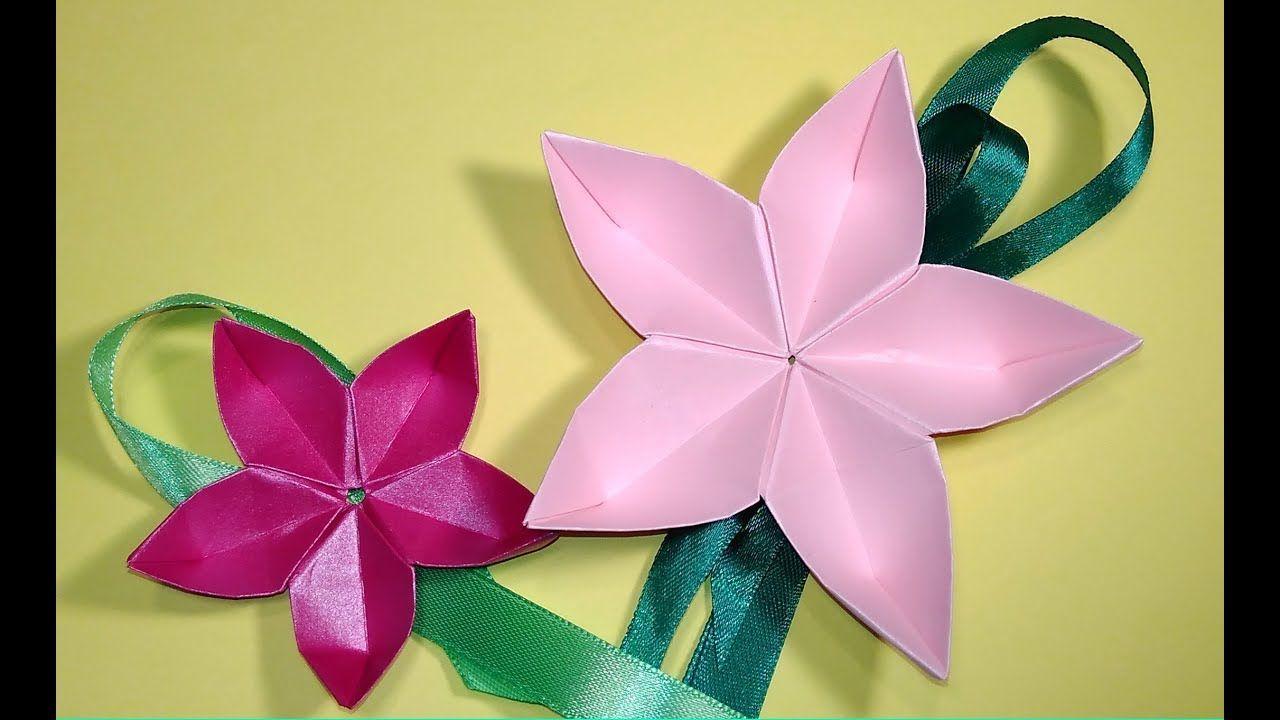 Origami Flower Sakura Easy Tutorial Ideas For Gift Box Decor