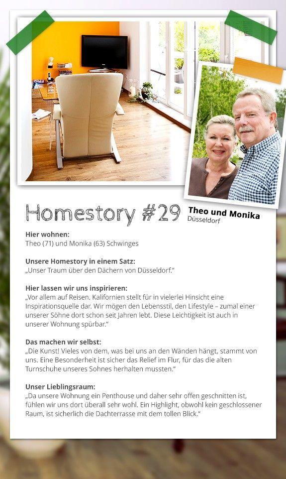 Die vierte Homestory unserer Top 5 für das Reisegewinnspiel: Verteilt Herzchen, Likes und Pins an Theo und Monika, wenn ihr sie nach Meran schicken wollt! Hier, auf Homestory.de oder bei Facebook. #Homestory #Home #Interior