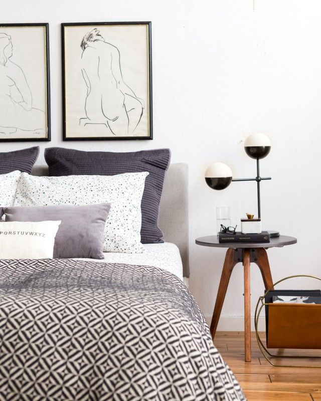 Best Beautiful Monochrome Bedroom Emily Henderson Styling 400 x 300