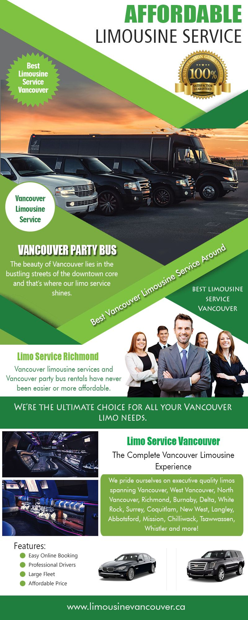 Limousine Vancouver for your luxury transportation need at