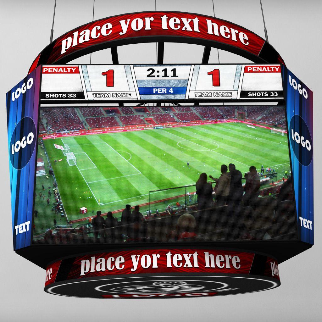 Jumbotron Scoreboard Sport Pack Sport Pack Scoreboard Hexagon