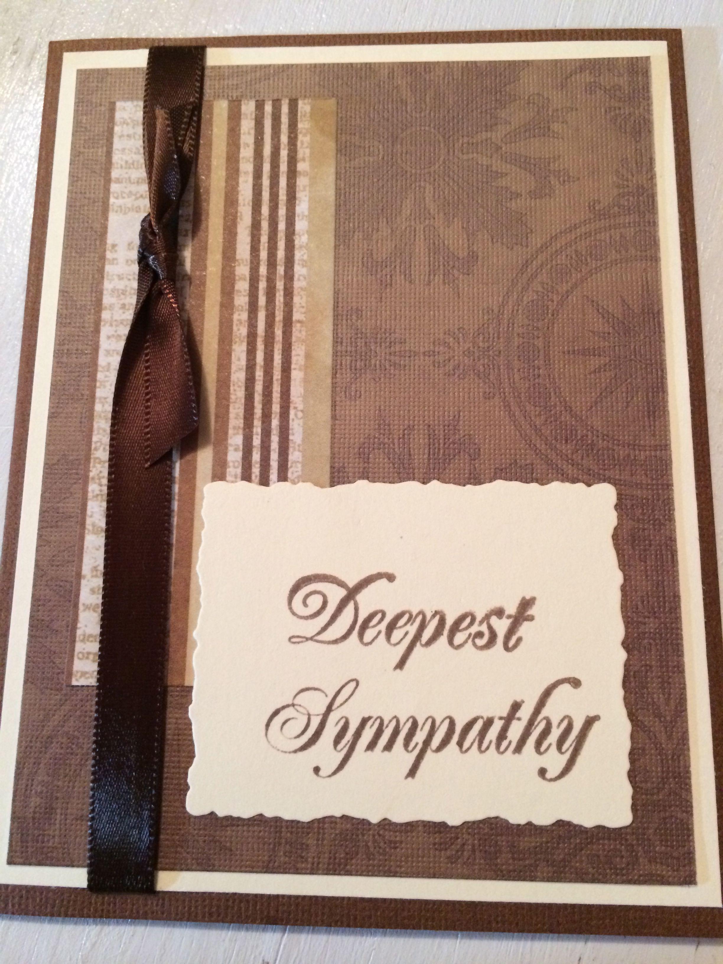 Card Making Ideas Sympathy Part - 27: Sympathy Cards Homemade For Men | Menu0027s Cards U2013 Birthday U0026 Sympathy