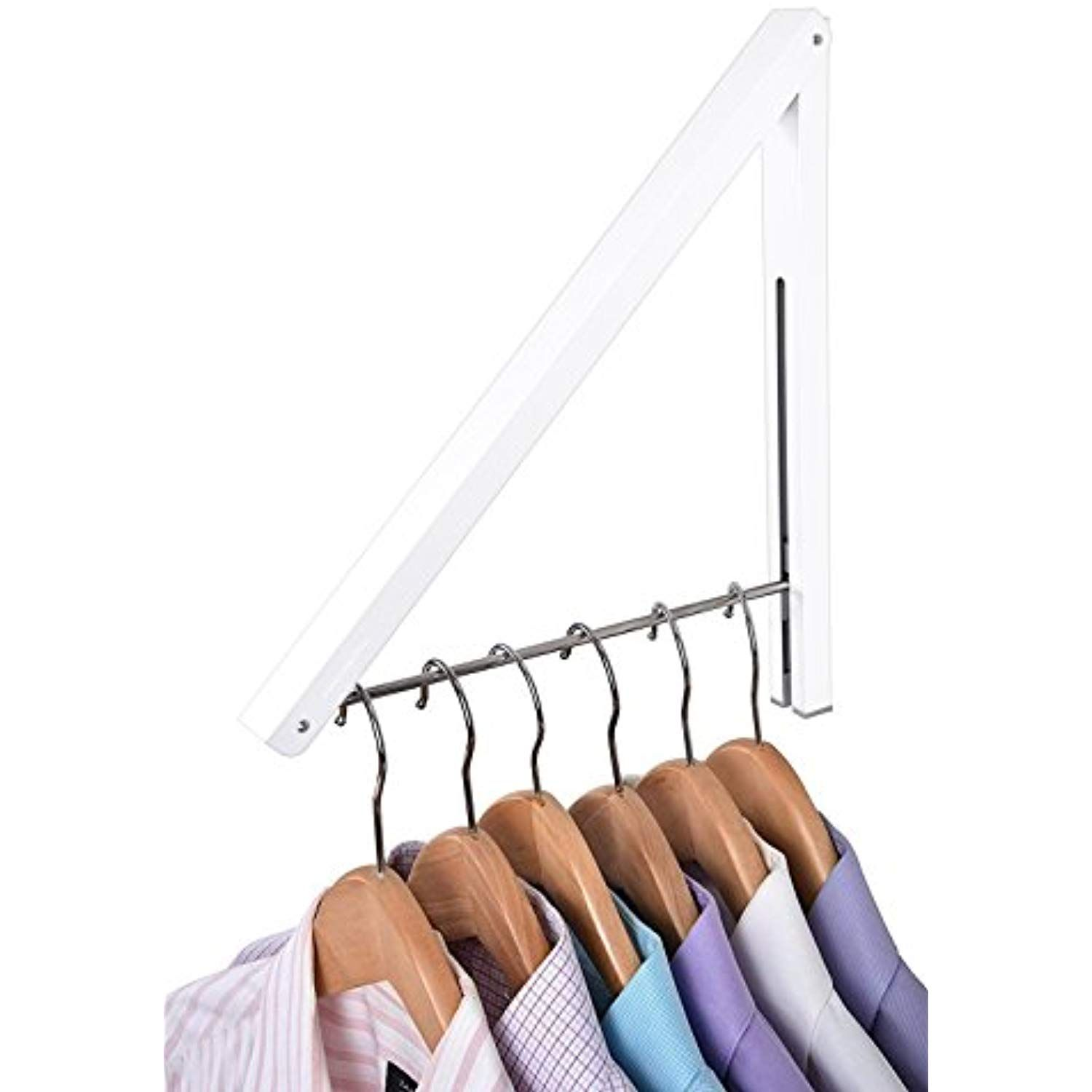 Stock Your Home Folding Clothes Hanger Wall Mounted Retractable Clothes Rack Aluminum Easy Installatio Diy Clothes Hanger Rack Folding Clothes Clothes Hanger