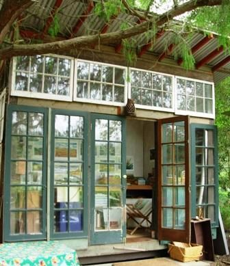 another view of a garden shed made of recycled materials by jeff shelton santa barbara - Garden Sheds From Recycled Materials