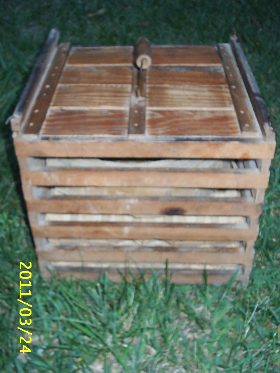 Vintage Wooden Egg Carrier/Crate Humpty Dumpty Cardboard Inserts Owosso, Mich          $47.99