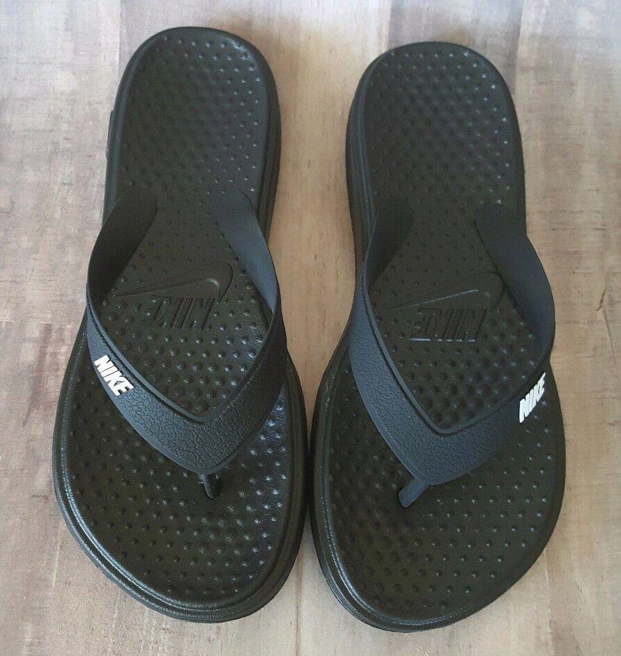 Flip Flops Black Athletic Sandals Shoes