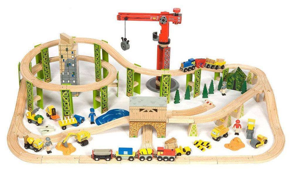 Toy Train Tracks : Wooden toy train track