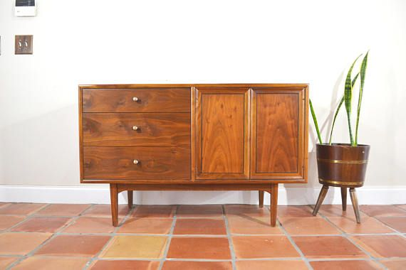 mid century credenza buffet console sideboard by drexel rh pinterest com