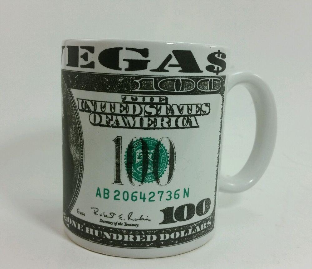 Los Vegas $100 bill souvenir mug Benjamin's money winning in Collectibles, Souvenirs & Travel Memorabilia, United States | eBay