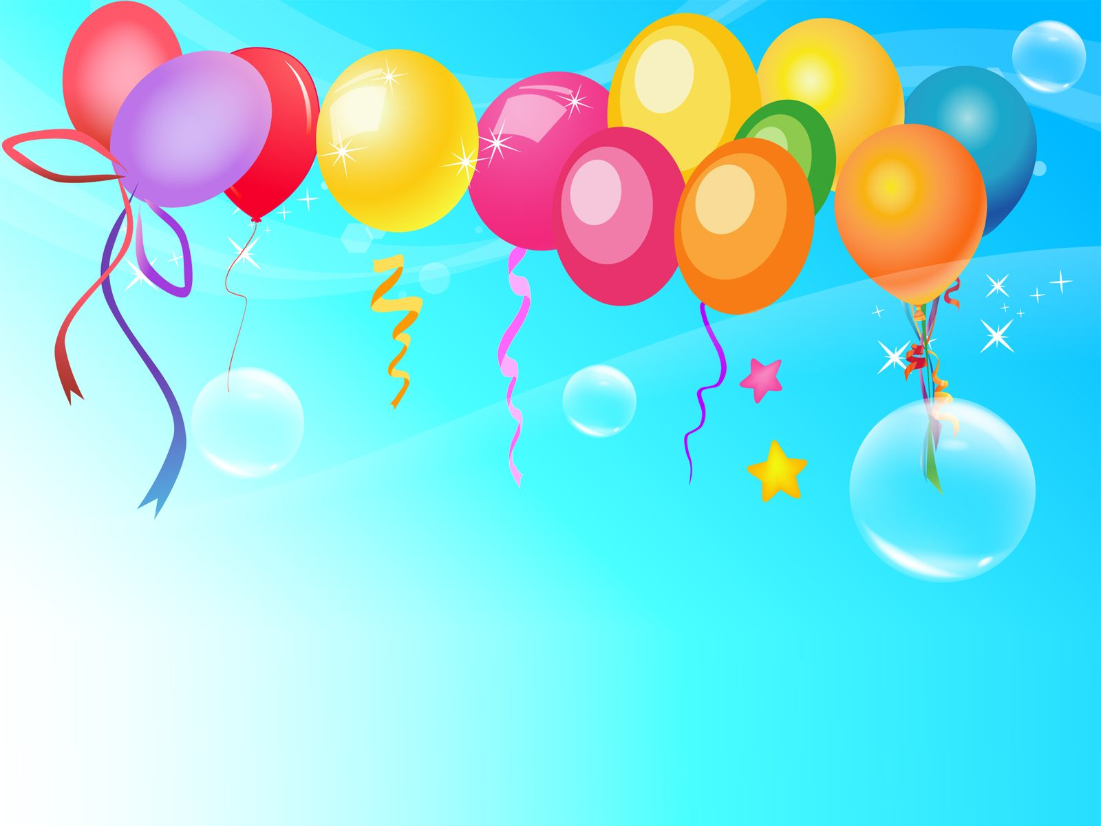 Colorful Backgrounds For Powerpoint Happy Birthday Wishes Party