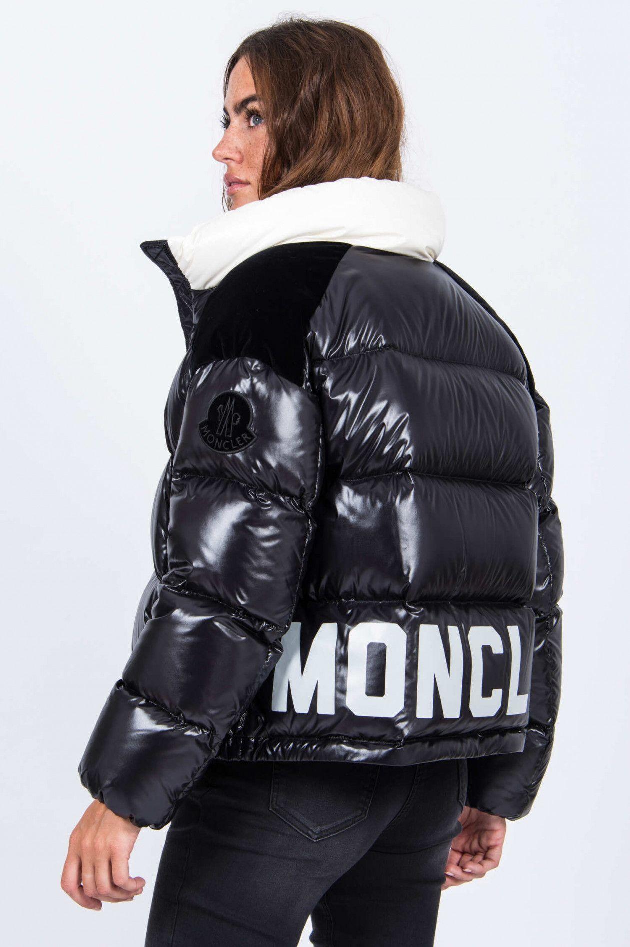 Moncler Daunenjacke Chouelle In Schwarz Weiß Moncler Jacket Women Jacket Outfit Women Moncler Jacket