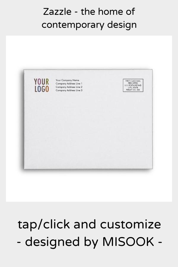 Recycled Note Card Envelope Logo Address Indicia Zazzle Com Card Envelopes Custom Printed Envelopes Note Cards